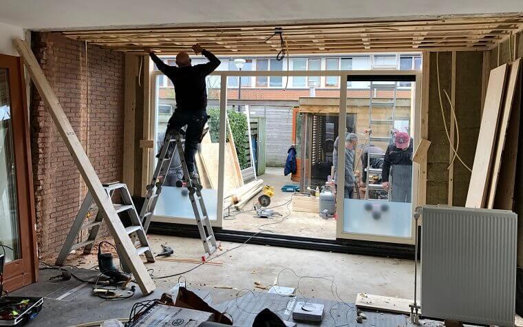 Binnenkant maken woonkamer