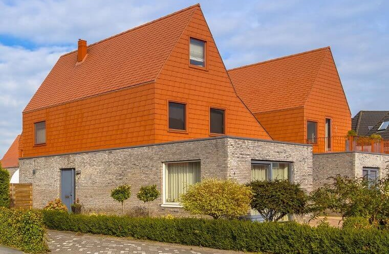 Voorbeeld uitbouw aan achterkant woning
